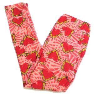 Lularoe LLR Heart Valentines Love Leggings